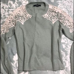 Forever 21 crocheted lace sweater. EUC